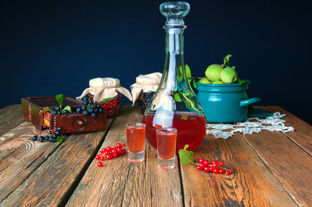tincture: Healthy homemade red currant tincture