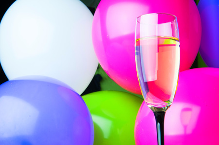 Party with champagne. New Years Eve or birthday. Stock Photo