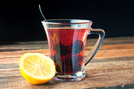 teas: Warming drink with berries and honey