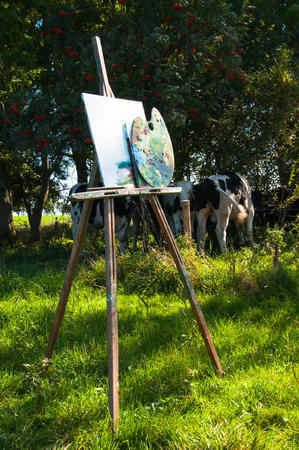 Painting tools in the open air