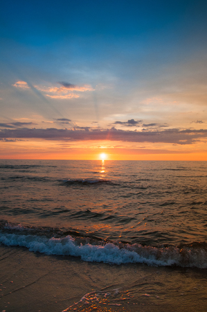Majestic sunset over sea