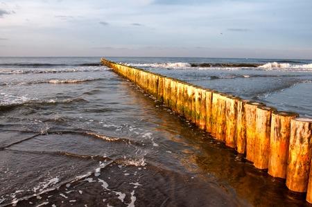 breakwater: Breakwater on Baltic Sea
