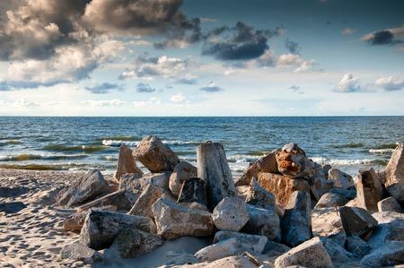 Sones on the beach