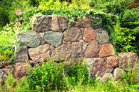 Piece of destroued stone wall