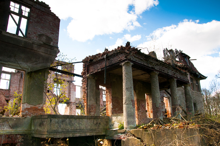 Old abandoned ruins on country Stock Photo