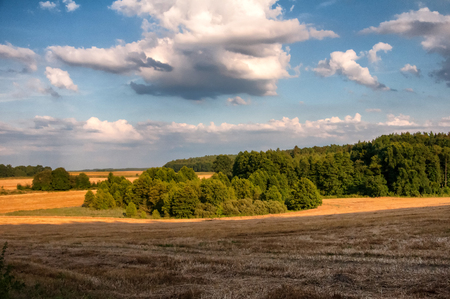 Rural landscape in early autumn
