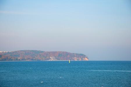 View on the sea and shore in Sopot Standard-Bild