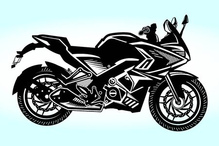Motor Bike | Motorcycle Vector Illustration Silhouette