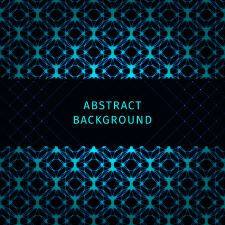 azure: Azure lights abstract geometric shape on dark background