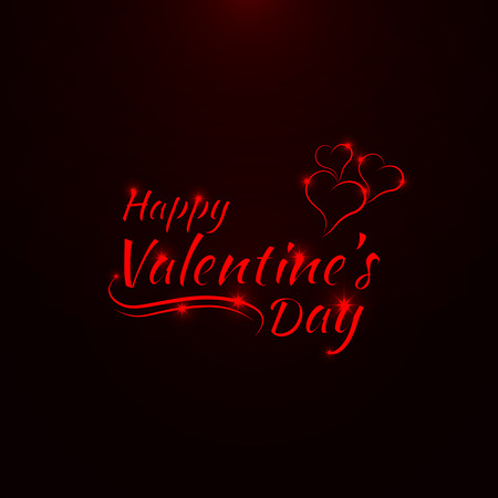 valentines day background: Valentines day abstract card, red lights design