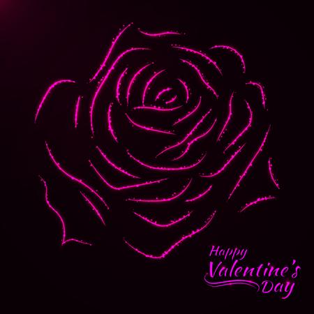 Giorno di San Valentino astratto carta rosa, rosa luci design