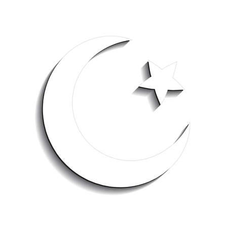 Star And Crescent Symbol Of Islam Flat Icon For Apps And Websites