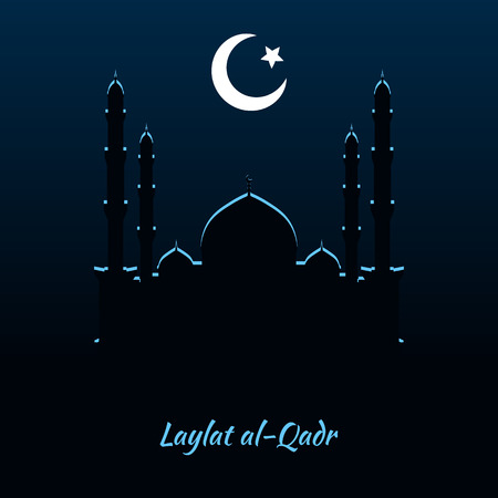 pious: Laylat al-Qadr, Islamic religion celebration, night background