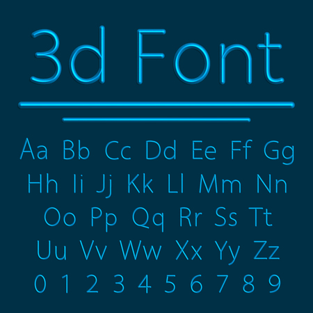 volumetric: Volumetric Font, 3d Line Letter with Shadow. Vector Illustration. Relief Tube Alphabet. Illustration