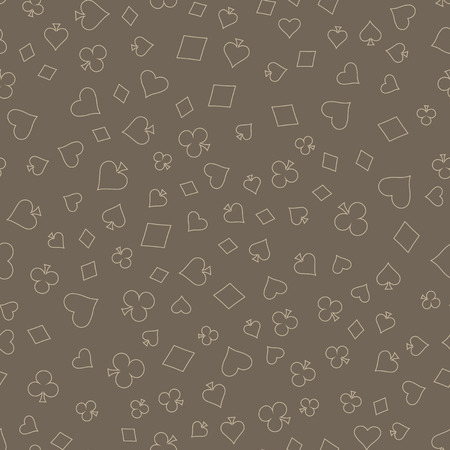 clubs diamonds: Suits Card Signs Seamless Pattern Background. Hearts, Diamonds, Spades and Clubs.