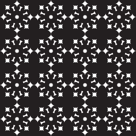trellis: Vector seamless pattern. Modern stylish texture. Repeating geometric tracery. Contemporary graphic design. Black and White Background.
