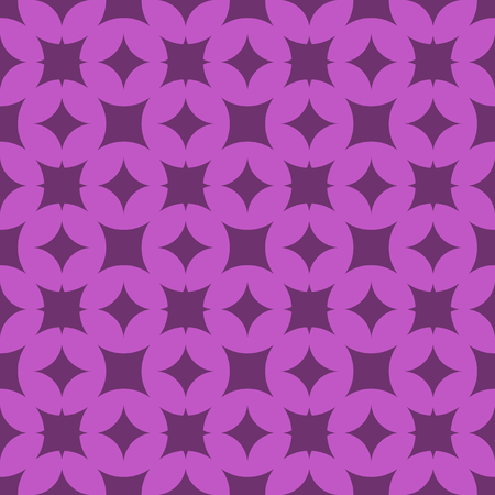 Vector seamless pattern. Modern stylish texture. Repeating geometric tracery. Contemporary graphic design. Purple color Background.