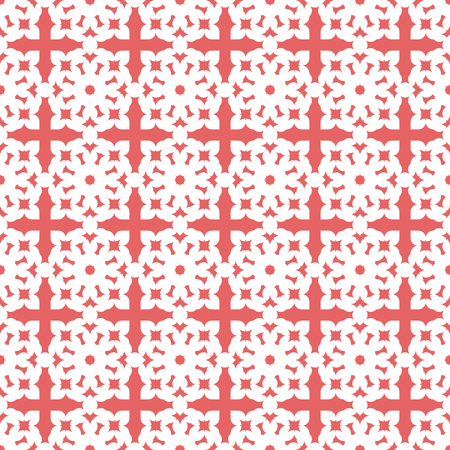 Vector seamless pattern. Modern stylish texture. Repeating geometric tracery. Contemporary graphic design. Pink color Background. Illustration