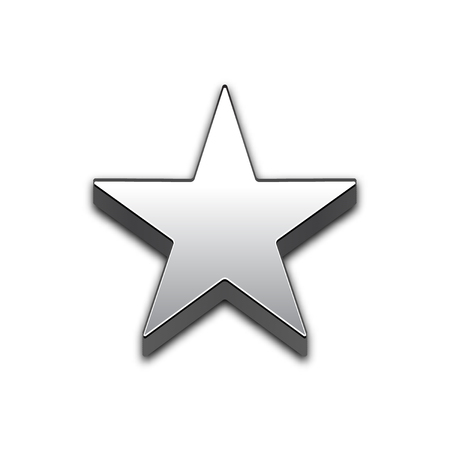 Star isolated 3d web vector icon. Star trendy 3d style vector icon. Raised symbol illustration. Eps 10. Star symbol vector icon for your web site design, internet, graphic interface, business.