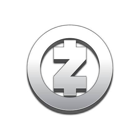 Zcash Coin Symbol Isolated Web Vector Icon Trendy