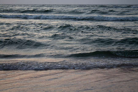 The waves break on the beach. Taken here at the Baltic Sea.
