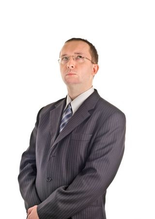 thinking adult male businessman photo