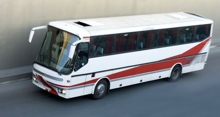 tour bus isolated rides photo
