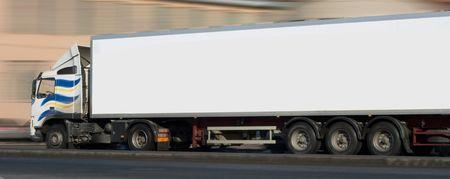 white semi tractor trailer truck photo