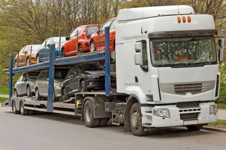 tow tractor: car carrier of my trucks series