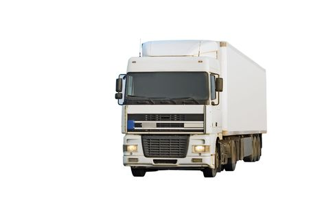 isolated blank truck photo