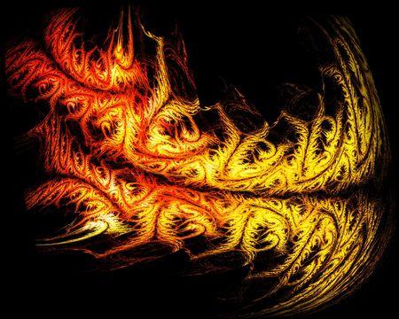 3d dragon: tribal fire tiger
