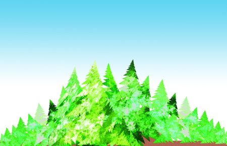 forest illustration Stock Illustration - 3106966