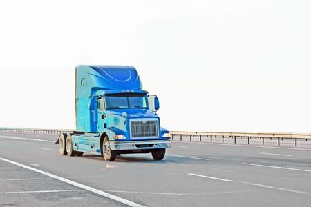 mack: blue truck Stock Photo
