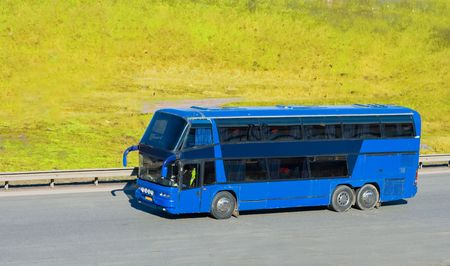 blue tourist bus Stock Photo - 3106879