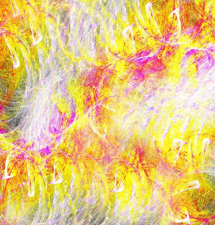 infernal: yellow mess abstract image Stock Photo