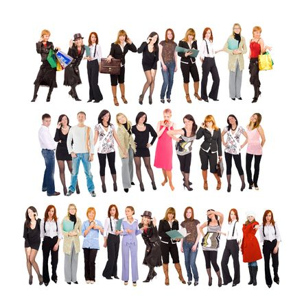 three groups of people Stock Photo - 3268890