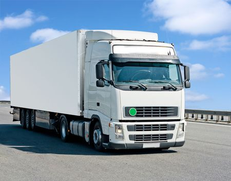 blank container truck photo