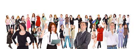 corporate group: big crowd