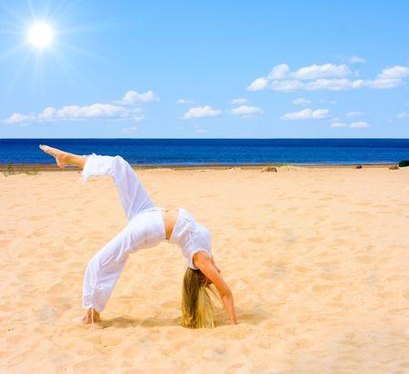 sun, beach, exercise photo
