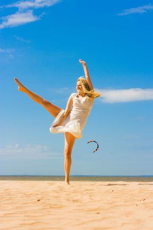 dancing on a beach photo