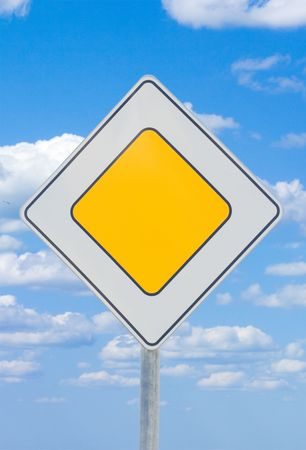 road sign - priority photo