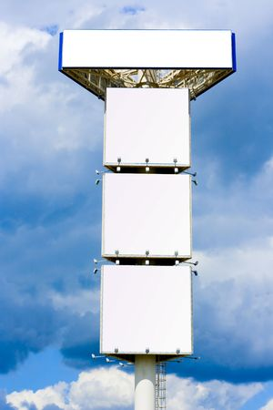 Quadriple advertisement billboard - giant 30 meter mast photo