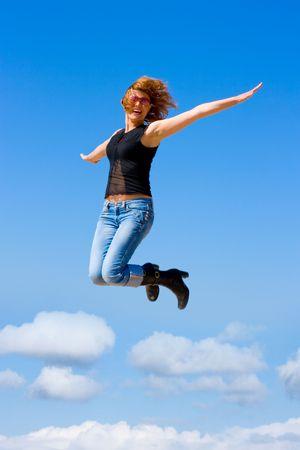 jumping girl Stock Photo - 3268813