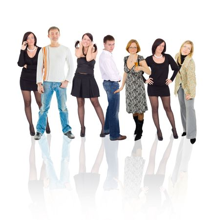 reflected group Stock Photo - 3268916