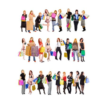 shopping in three rows Stock Photo - 3268951