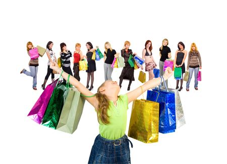 kid shopping joy photo