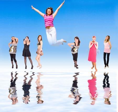 team jumping photo