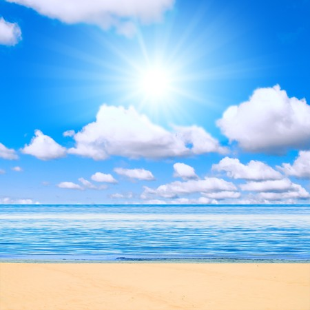 beach under sun Stock Photo - 4571340