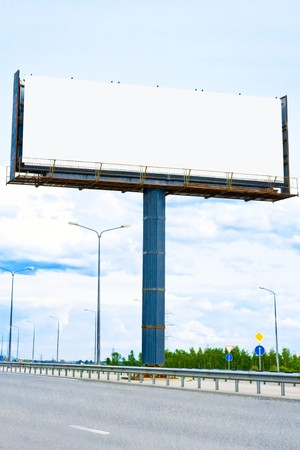 proclamation: blank banner for your ad - of Billboards series Stock Photo