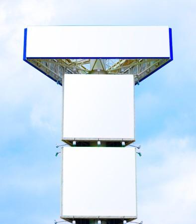 ad: triple blank billboard for you ads